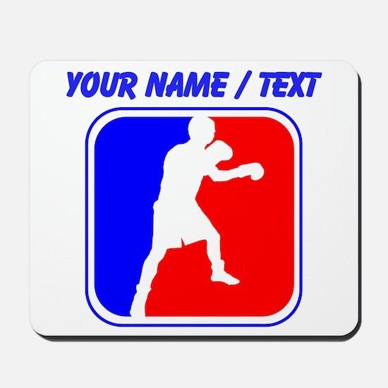 Custom Boxing League Logo Mousepad