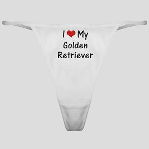I Heart My Golden Retriever Classic Thong
