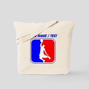 Custom Basketball League Logo Tote Bag
