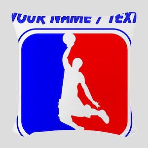 Custom Basketball League Logo Woven Throw Pillow