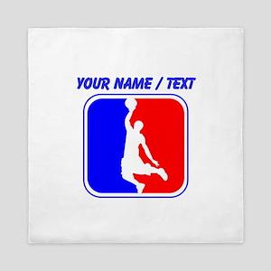 Custom Basketball League Logo Queen Duvet