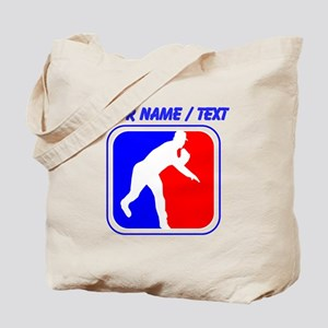 Custom Baseball League Logo Tote Bag