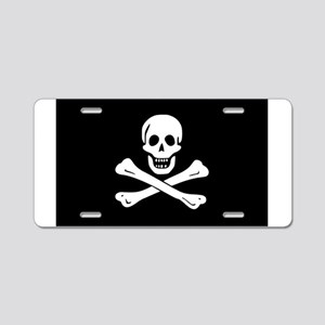 Skull And Crossbones Aluminum License Plate