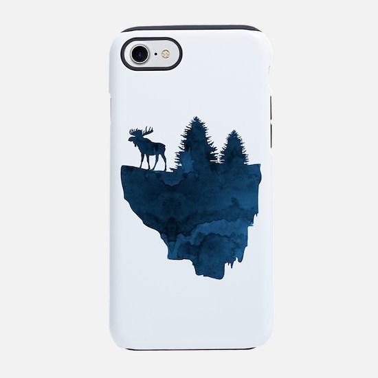 floating island - moose iPhone 7 Tough Case