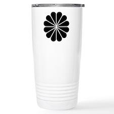Big Black Digital Flower Travel Mug
