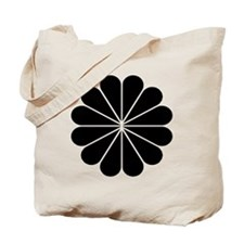 Big Black Digital Flower Tote Bag