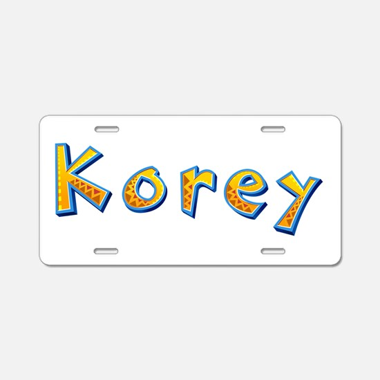 Korey Giraffe Aluminum License Plate