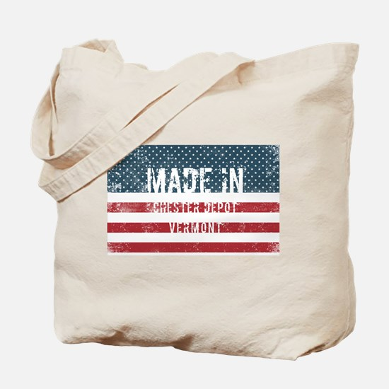 Made in Chester Depot, Vermont Tote Bag