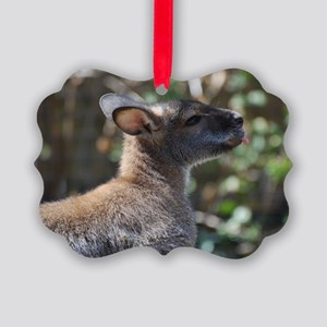 Profile of a Wallaby Picture Ornament