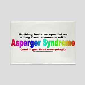 Asperger Hug Rectangle Magnet