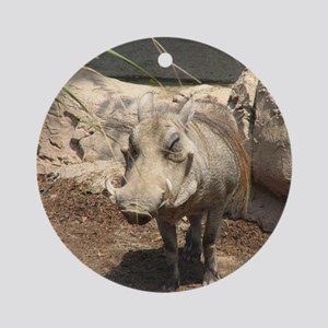 Warthog Grin Round Ornament