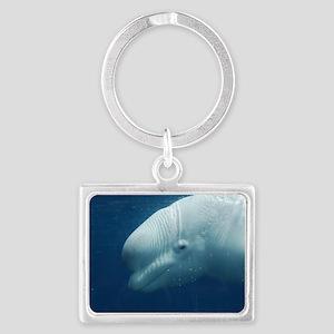 White Whale Landscape Keychain