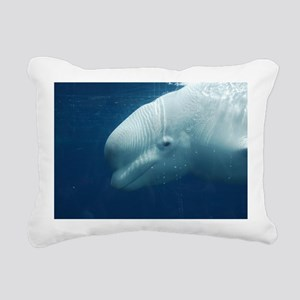 White Whale Rectangular Canvas Pillow