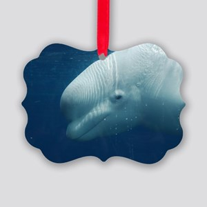 White Whale Picture Ornament