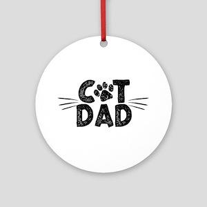 Cat Dad Round Ornament