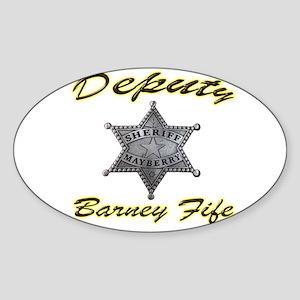 Barney Fife Mayberry Deputy Sticker