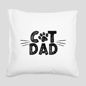 Cat Dad Square Canvas Pillow