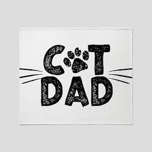 Cat Dad Throw Blanket
