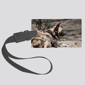 African Wild Dog Large Luggage Tag