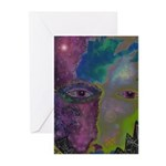 Face Over Star Mountain Greeting Cards (Pk Of 10)
