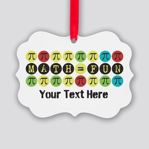 Customize Math = Fun Picture Ornament