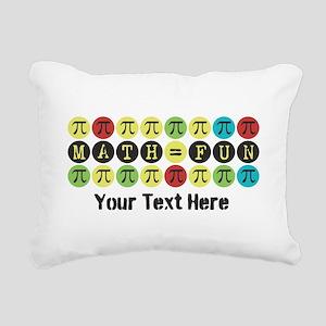 Customize Math = Fun Rectangular Canvas Pillow