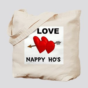 LOVE NAPPY  Tote Bag