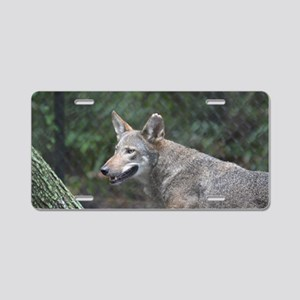 Grey Wolf Aluminum License Plate
