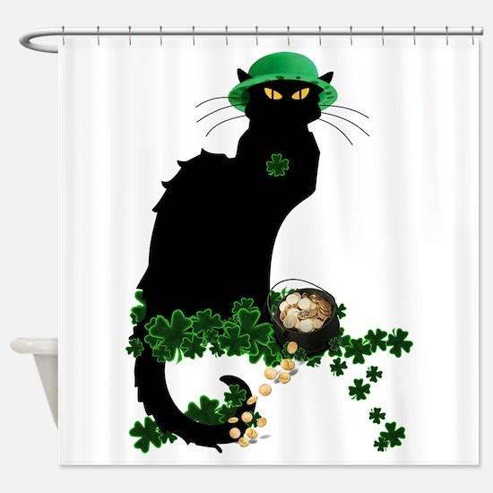 Le Chat Noir, St Patricks Day Shower Curtain