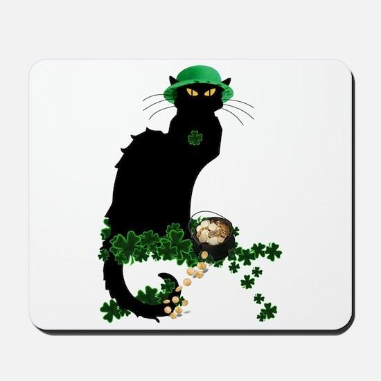 Le Chat Noir, St Patricks Day Mousepad
