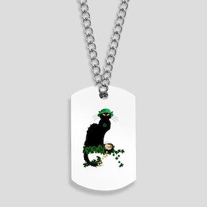 Le Chat Noir, St Patricks Day Dog Tags