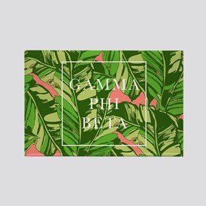 Gamma Phi Beta Banana Leaves Rectangle Magnet