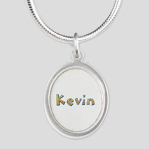 Kevin Giraffe Silver Oval Necklace