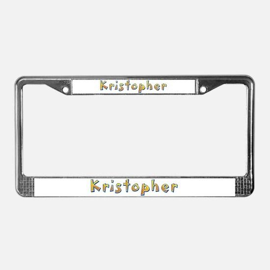 Kristopher Giraffe License Plate Frame