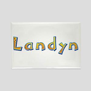 Landyn Giraffe Rectangle Magnet
