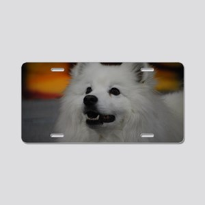 American Eskimo Dog Aluminum License Plate