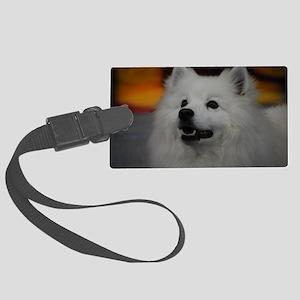 American Eskimo Dog Large Luggage Tag