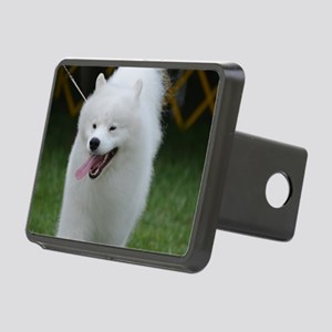 Grinning American Eskimo D Rectangular Hitch Cover
