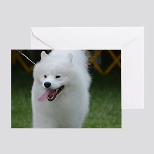 Grinning American Eskimo Dog Greeting Card