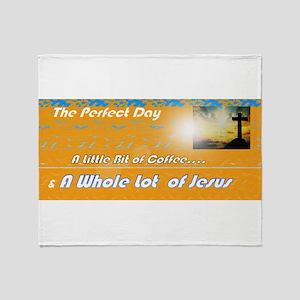 Coffee Jesus Throw Blanket