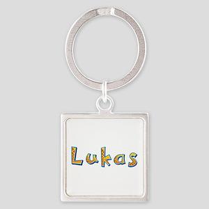 Lukas Giraffe Square Keychain