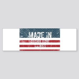 Made in Chicago Ridge, Illinois Bumper Sticker