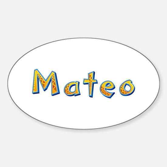 Mateo Giraffe Oval Decal
