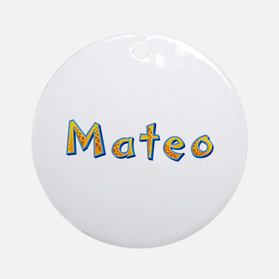 Mateo Giraffe Round Ornament
