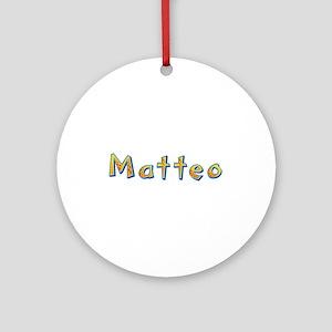 Matteo Giraffe Round Ornament