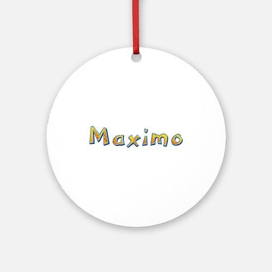Maximo Giraffe Round Ornament