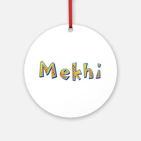 Mekhi Giraffe Round Ornament