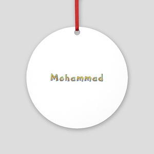 Mohammad Giraffe Round Ornament