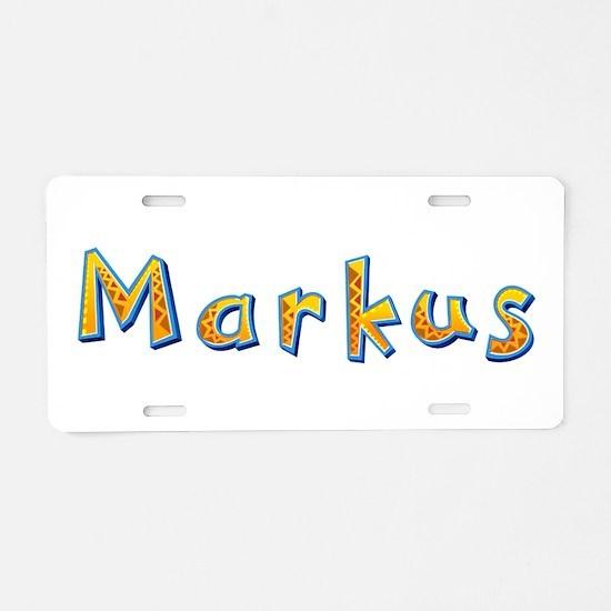 Markus Giraffe Aluminum License Plate
