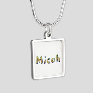 Micah Giraffe Silver Square Necklace